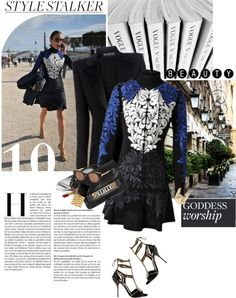 """""""STELLA MCCARTNEY Embroidered Crepe Dress"""" by mychanel ❤ liked on Polyvore"""