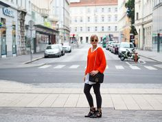 Fashionblog, Herbstlook, Streetstyle, Fashion, Orange, Boots, Lakatyfox, fashionblogger, outfit, layering, blond, Pullover,