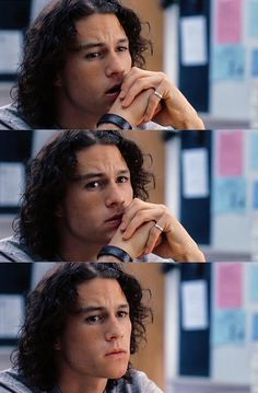 Heath Ledger as Patrick Verona in 10 Things I Hate About You - Comb your hair punk