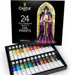 Castle-Art-Supplies-Oil-Paint-Set Bob Ross, Oil Paint Set, Best Oils, Oil Painting Techniques, Paint Supplies, Texture Design, Free Design, Vibrant Colors, Miniatures