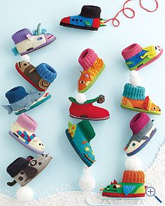 garnetthill.com - could DIY slippers for Christmas.  maybe start with plain Wal-mart slippers as the base??