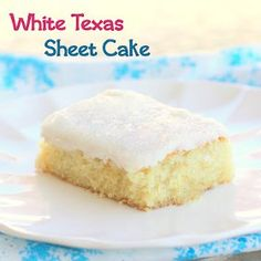 Easy White Texas Sheet Cake