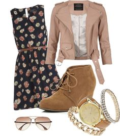 """""""neutral floral"""" by brooki-alyssa on Polyvore"""