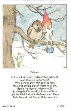 Fleißbildchen - Original Ida Bohatta - ars 61.2291 - Februar -