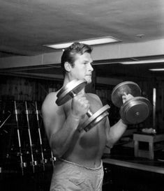 For Sale on - Shirtless Roger Moore Pumping Iron Fine Art Print, Archival Ink, Archival Paper, Archival Pigment Print by Larry Barbier. Offered by Capital Art. Roger Moore, Cousins, Mid Atlantic Accent, George Lazenby, Timothy Dalton, Pumping Iron, Pierce Brosnan, Sean Connery, Most Handsome Men