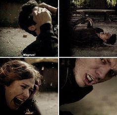 When Alec screams Magnus and he does nothing but then Clary screams Jace and he gets up❤️❤️❤️❤️CLACE ALL THE WAY!!!