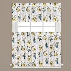 Spruce up your home with these Botanical Fruit Kitchen Window Curtain Tiers and Valance. A delightful fruit motif adorns the tiers and matching valance in a pretty watercolor-style print and brings the feel of a vintage orchard to your décor.