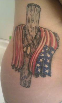 32 Patriotic Tattoos For Guys Army Tattoos, Military Tattoos, Dad Tattoos, Great Tattoos, Future Tattoos, I Tattoo, Girl Tattoos, Tattoos For Guys, Texas Tattoos