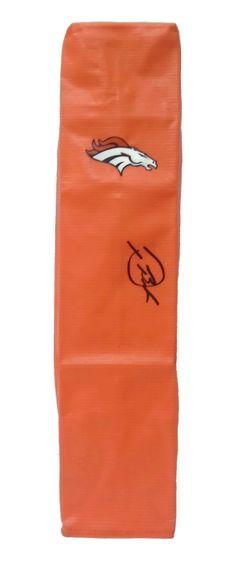 Devontae Booker Autographed Denver Broncos Full Size Football End Zone Touchdown Pylon, Proof