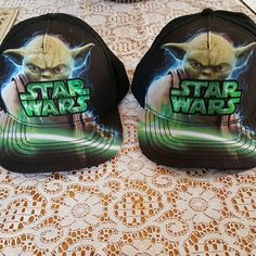 Unisex Matching Star Wars Caps Like new one worn one time the other brand new!  I worw mine to a starwars event once and hubby was a jedi instead!!! Adjustable in the back. Perfect to wear to Disneyland! These are still selling for $12.99 each. Other