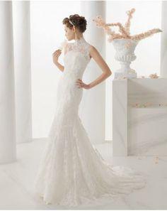 Robe de mariée sirène dentelle deux pièces