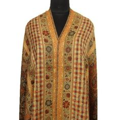 """Ibaexports Large Beige Wool Blend Shawl Paisley Design Jamawar Jacquard Weaving Woman Wrap Stole India New 80"""" X 40"""" Inches IBA. $45.99"""