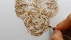 Tutorial | How to draw realistic hair with colored pencils