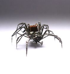 Watch Parts Spider Sculpture No 69 Recycled by amechanicalmind