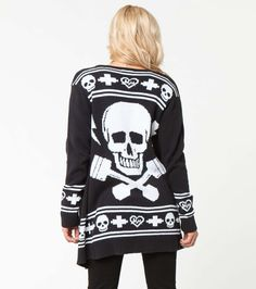 Metal Mulisha Maidens BRIDGETT SWEATER from the Fall 2014 Collection! Black sweater with skull and pistons