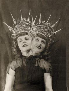 Montage Photograph of the Artist's Wife Marie by Eugene Von Bruenchenhein, 1940s