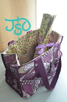 JustSewOlivia: Thirty-One Utility Tote Liner Sew Along Part 6 - Mission Complete!