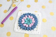puffy crochet square
