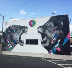 """""""New @GREGMIKE mural in West Palm Beach, FL. for @canvaswpb #abvfam #riseABV #gregmike #larryloufmouf #westpalmbeach #canvaswpb"""""""