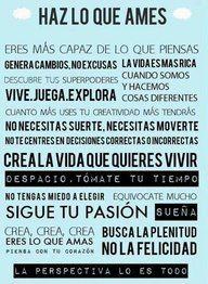 Cartel motivacional de la semana en SHA Wellness Clinic: Haz lo que ames, crea la vida que quieres vivir, sigue tu pasión...