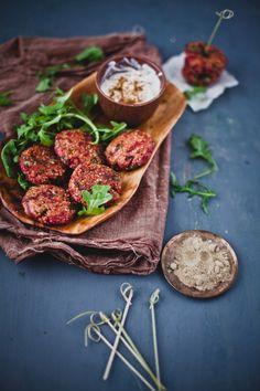 Rote Bete Rucola Quinoa Patties | Verspielt Kochen