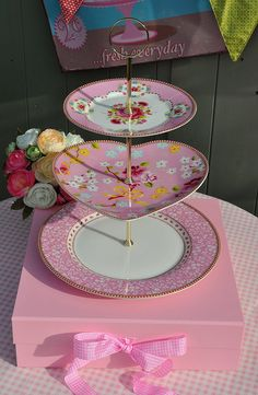 New PiP Plates Heart Cake Stand by cake-stand-heaven, via Flickr