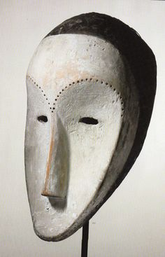 Fang mask from Equatorial Guinea.  It was once in the collection of Adriana and Robert Mnuchin of New York and the Pace Primitive and Ancient Art Gallery in New York.  It is 15 1/2 inches high and has and estimate of $100,000 to $150,000.