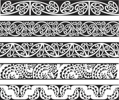 Seamless Maori Kowhaiwhai pattern designs in color. Maori Designs, Art Maori, Maori Patterns, Polynesian Tribal, Sculpture Metal, Frank Morrison, Carving Designs, Free Illustrations, Painting Patterns