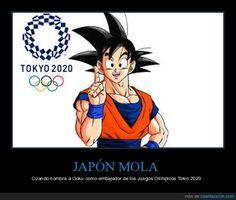 JAPÓN MOLA - Cuando nombra a Goku como embajador de los Juegos Olímpicos Tokio 2020   Gracias a http://www.cuantarazon.com/   Si quieres leer la noticia completa visita: http://www.skylight-imagen.com/japon-mola-cuando-nombra-a-goku-como-embajador-de-los-juegos-olimpicos-tokio-2020/