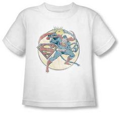 Superman Retro White Toddler T Shirt only $18.95 at #kiditude