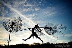 Dynamic Wire Art Sculpture of Fantastical Fairies by Robin Wight Robin Wight, Wire Art Sculpture, Sculptures Céramiques, Abstract Sculpture, Bronze Sculpture, Fantasy Wire, Fairy Drawings, Fairy Pictures, Fairy Art