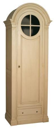 Meuble Bonnetière à lucarne ronde - 5 étagères - 1 tiroir - Mobilier Armoires Signature