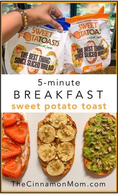 It's never been easier to make sweet potato toast for breakfast! Sweet PotaTOASTS, from the makers of CAULIPOWER, are fast, nutritious, and never boring! Sweet Potato Slices, Sweet Potato Toast, Sweet Potato Chili, Sweet Potato Breakfast, Sweet Potato Recipes, Breakfast Recipes, Breakfast Ideas, Clean Breakfast, Clean Eating Snacks