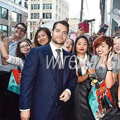 So I just met #Superman ... #HenryCavill is one good looking man ♡ #TheManFromUNCLE #Toronto