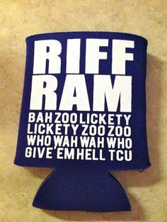 TCU RIFF RAM Koozie on Etsy, $5.00 Need this for tailgating this year!!