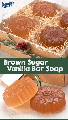 Brown Sugar Vanilla Bar Soap This homemade scented soap uses festive, holiday-themed molds for a gift that is seasonal and sweet! Use this DIY brown sugar soap for a unique and adorable Christmas stocking stuffer. Homemade Soap Recipes, Homemade Gifts, Homemade Stocking Stuffers, Christmas Soap, Christmas Stocking, Xmas, Diy Savon, Sugar Soap, Honey Soap