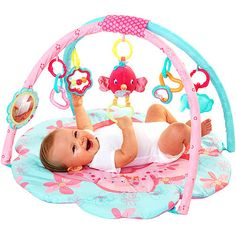 Bright Starts - Petals & Friends Activity Gym $25    great for the price, she loves it! now that shes scooting around though i'd like a bigger mat. but def good for the first 6 months!