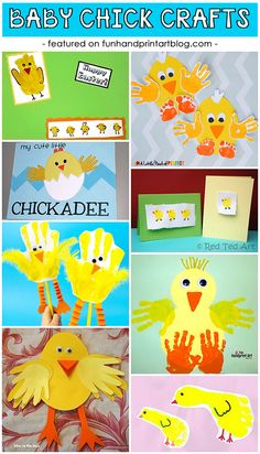 Baby Chick Handprint and Footprint Crafts - Spring Ideas for Preschoolers and Kindergartners