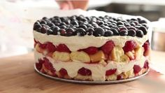 Blue Desserts, Easy Desserts, Berry Trifle, Mascarpone Cheese, Springform Pan, Food Shows, Confectioners Sugar, Few Ingredients, Everyday Food
