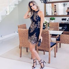 vestido-de-renda-2016 Dress And Heels, Dress Up, Bodycon Dress, Cocktail Party Outfit, Party Dress, Beautiful Outfits, Cool Outfits, Looks Party, Space Fashion
