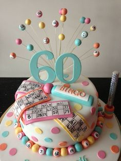 I so want to make this for my Nana's next birthday! The bingo queen! Bingo cake — Birthday Cake Photos