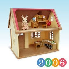 """""""Cozy Cottage Starter Home"""" appeared in 2007. """"Cozy Cottage Starter Home"""" was introduced. A doll, furniture, and a house come in a set, and it is good for first-time customers. The original house was available with a milk rabbit girl. #sylvanianfamilies #sylvanian #calicocritters #シルバニアファミリー #シルバニア #森林家族 #toycollection #dollcollection #toycollector #rabbitdoll #bunnydoll #toys #toysforfun #indoortoys #rabbit"""