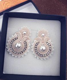 Bead Jewellery, Beaded Jewelry, Jewelery, Handmade Necklaces, Handmade Jewelry, Handmade Gifts, Soutache Earrings, Polymer Clay Charms, Wedding Jewelry