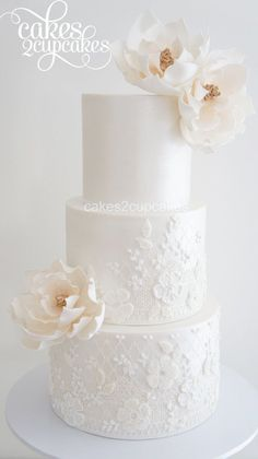 Cakes 2 Cupcakes - Engagements and Weddings Fancy Wedding Cakes, Floral Wedding Cakes, Wedding Cakes With Cupcakes, Beautiful Wedding Cakes, Wedding Cake Designs, Beautiful Cakes, Cupcake Cakes, Lace Wedding, Engagement Cakes
