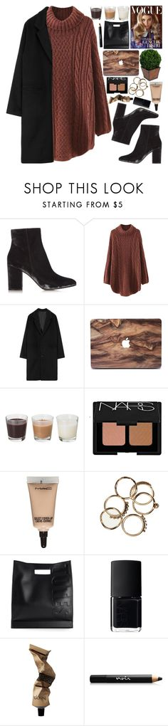 """"""".."""" by imthinkinginyou ❤ liked on Polyvore featuring Gianvito Rossi, WithChic, NARS Cosmetics, MAC Cosmetics, 3.1 Phillip Lim, Aesop and Noir Cosmetics"""