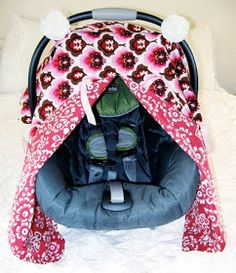 closet crafter: car seat canopy with peek-a-boo tutorial