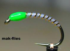 Glo-Brite Okey Dokey Buzzer by mak-flies 2013 Diy Fishing Bait, Fly Fishing Tips, Fishing Girls, Fishing Tackle, Fishing Tricks, Women Fishing, Fishing Quotes, Fishing Rods, Fly Fishing Nymphs