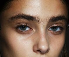 Taylor Marie Hill backstage at Christopher Kane S/S 2015 at LFW
