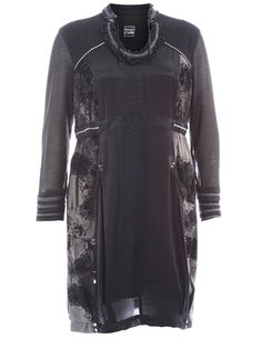 Pause Cafe Dress with pockets in Black / Grey navabi