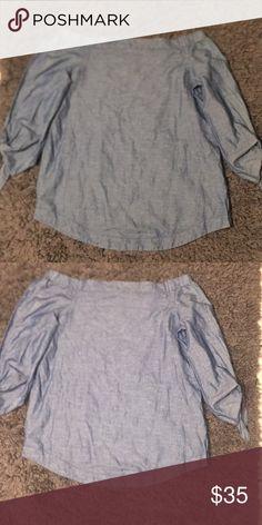 5ce75eed5ee9ef Free People Cute jean dress top Sz L. Can be worn as mini dress